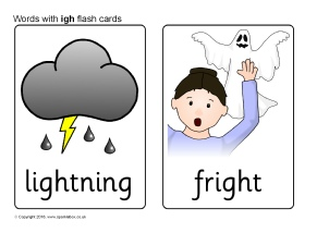 Worksheets Igh Words Phonics words with igh phonics activities and printable teaching flash cards sb11495