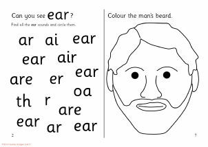 Words With Ear Phonics Activities And Printable Teaching Resources Sparklebox