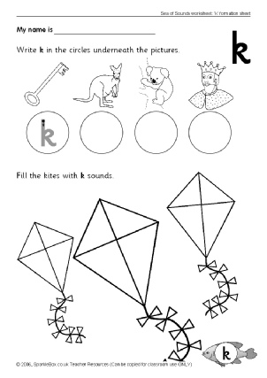 photograph about Letter K Printable titled Letter K Phonics Things to do and Printable Training Components