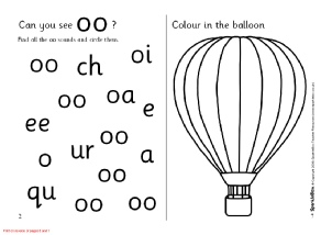 1st grade, Kindergarten Reading Worksheets: Vowel sound: oo ...