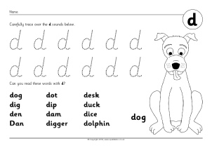 letter d phonics activities and printable teaching resources sparklebox. Black Bedroom Furniture Sets. Home Design Ideas