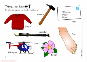 Words with ER - Phonics Activities and Printable Teaching ...