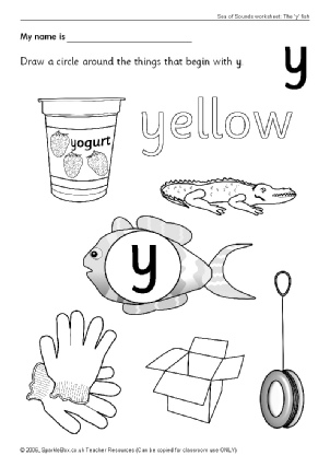 Letter Y Phonics Activities and Printable Teaching Resources ...