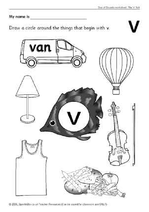 Letter V Sea of Sounds Phonics Teaching Resources - SparkleBox
