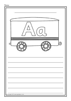 Phonics Alphabet Train Classroom Display Resources