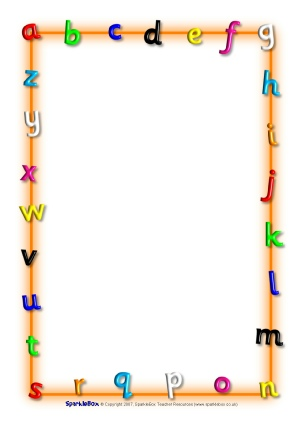 Kindergarten Page Borders Alphabet (abcs) & phonics teaching resources ...