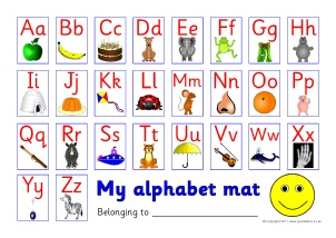 photo about Alphabet Strip Printable called KS1 Alphabet Strips and Tabletop Alphabet Traces - SparkleBox