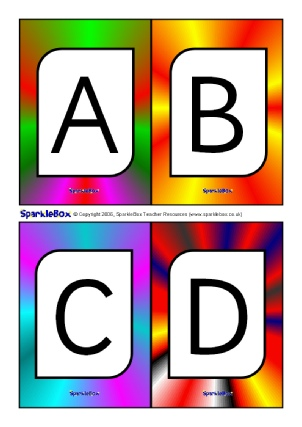 KS1 alphabet phonics flash cards - Alphabet and sounds - SparkleBox