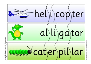 picture regarding Syllable Games Printable named KS1 syllables training components - SparkleBox