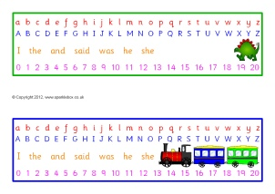 image about Alphabet Strip Printable titled KS1 Alphabet Strips and Tabletop Alphabet Strains - SparkleBox
