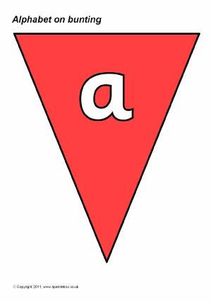 Alphabet on Bunting Classroom Display Resources - SparkleBox