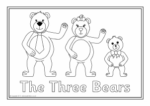 Goldilocks the three bears teaching resources story sack goldilocks and the three bears colouring sheets sb6137 pronofoot35fo Images