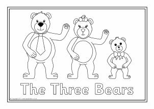 Top 10 Free Printable Goldilocks And The Three Bears Coloring ... | 214x302