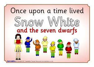 photo about Snow White Printable titled Snow White and the 7 Dwarfs Instruction Elements Tale