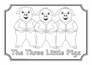 View Preview Three Little Pigs Colouring Sheets