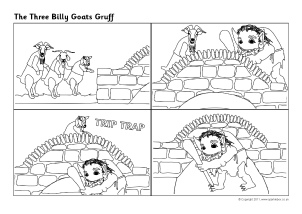 picture relating to Three Billy Goats Gruff Story Printable titled A few Billy Goats Gruff Training Elements Tale Sack