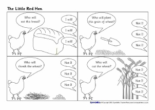 photo relating to The Little Red Hen Story Printable named Minimal Crimson Bird Coaching Supplies Tale Sack Printables