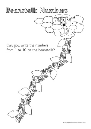 image regarding Jack and the Beanstalk Printable called Jack and the Beanstalk Education Components Tale Sack