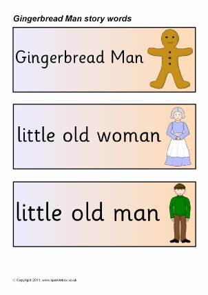 Gingerbread Man Teaching Resources & Story Sack Printables