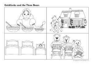 Goldilocks And The Three Bears Sequencing Sheets SB7215