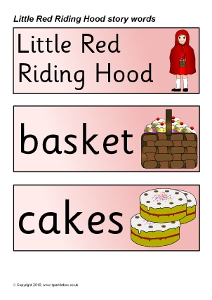 graphic relating to Little Red Riding Hood Story Printable named Very little Pink Driving Hood Education Elements Tale Sack