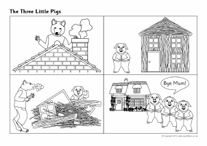 photograph regarding Three Little Pigs Printable named A few Minimal Pigs Instruction Supplies Tale Sack Printables