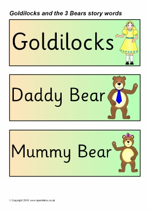 Goldilocks & the Three Bears Teaching Resources & Story Sack ...