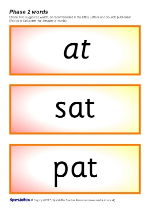 Phase 2 Decodable And Tricky Word Cards SB1773