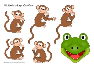 Five Little Monkeys In A Flying Saucer Nursery Rhyme Teaching Resources Sparklebox
