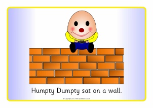 photograph relating to Humpty Dumpty Printable named Humpty Dumpty Nursery Rhyme Schooling Products Printables
