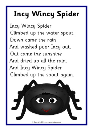 photograph about Free Printable Nursery Rhymes named Printable Nursery Rhyme Tune Lyric Sheets - SparkleBox