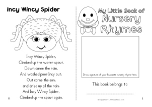 The Itsy Bitsy Spider / The Incy Wincy Spider Worksheets and ... | 214x302