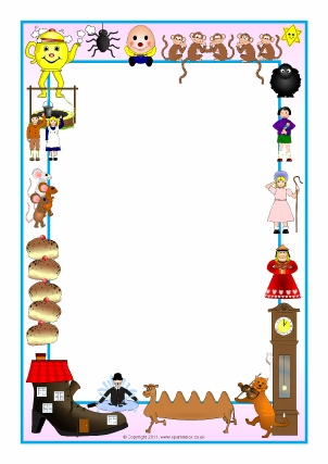 picture about Printable Page Borders identify Nursery Rhyme Printable Website page Borders - SparkleBox