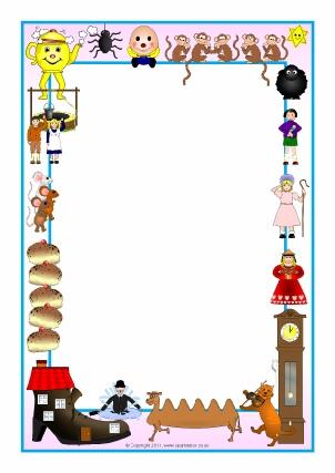 Nursery Rhyme Printable Page Borders - SparkleBox