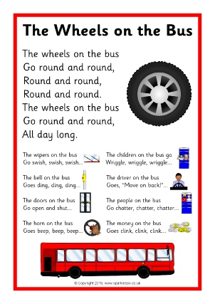 The Wheels On Bus Song Sheet SB12479