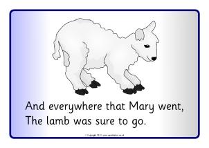 Mary Had A Little Lamb Visual Aids SB8212