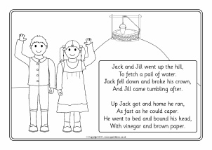 jack and jill colouring sheets sb4287