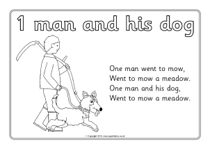 one man went to mow colouring sheets sb10578