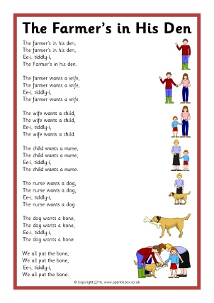 graphic regarding Were Moving Up to Kindergarten Printable Lyrics known as Printable Nursery Rhyme Tune Lyric Sheets - SparkleBox