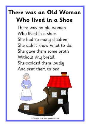 The Little Old Lady Who Lived In A Shoe Lyrics