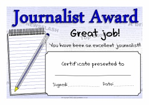 Printable literacy award certificates for primary ks1 ks2 sparklebox view preview journalistjournalism award certificates sb7867 printable certificates yadclub Image collections