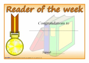 Printable literacy award certificates for primary ks1 ks2 three printable certificates to present to the reader writer or mathematician of the week yadclub Gallery