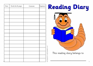Printable Class Reading Records for Primary School - SparkleBox