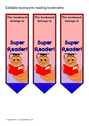 Ks1 ks2 printable reading certificates awards sparklebox for Bookworm bookmark template