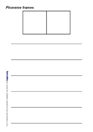 photograph relating to Elkonin Boxes Printable identified as KS1 Phoneme Frames / Elkonin Containers - SparkleBox