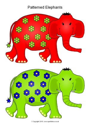 elmer teaching resources story sack printables sparklebox
