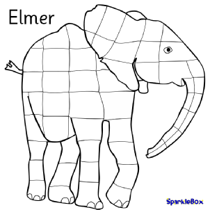 graphic about Elmer the Elephant Printable referred to as Elmer Schooling Components Tale Sack Printables - SparkleBox