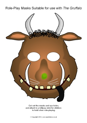 gruffalo role play masks sb9752 simple printable masks that are ...