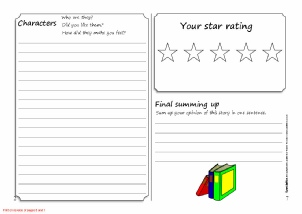 book review scaffold worksheet