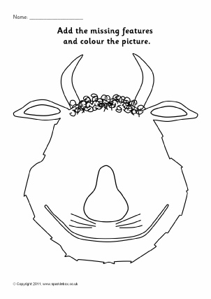 view preview add the monsters features colouring sheets - Gruffalo Colouring Pages To Print